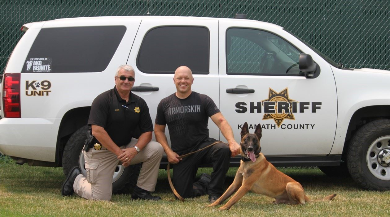 Chief - with Sheriff Kaber and Handler Tom Hoy